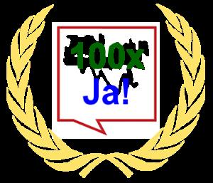 100 x Ja