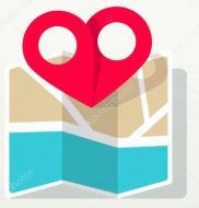 liefde-plaats-hart-pin-aanwijzer