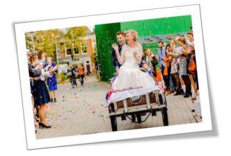 bakfiets bruidspaar