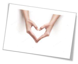 handgebaar hart omlaag